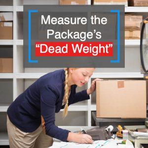 woman weighing box to ship